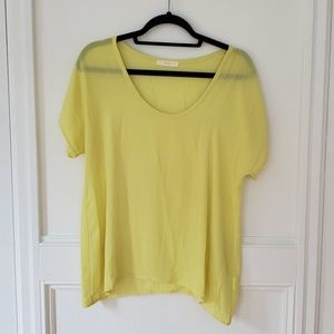 Lush Bright Canary Yellow Blouse, Small